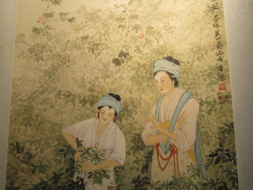 Deng Fen (1894-1964) Beauties Gathering Tea, 1954