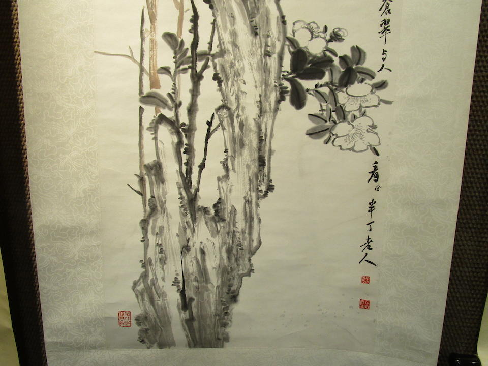Chen Banding (1876-1970) Flowers and Rock