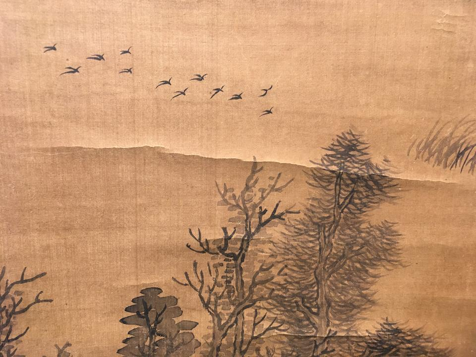 Attributed to Pan Gongshou (1741-1794) Landscape After Wang Hui