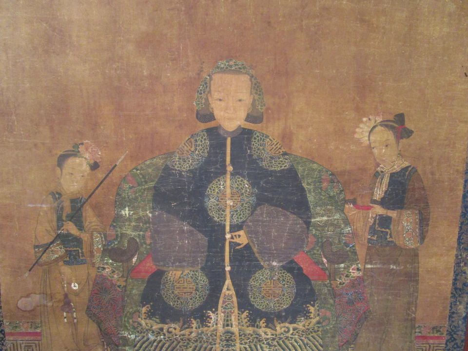 Anonymous (Qing dynasty) Portrait of a Manchu Lady