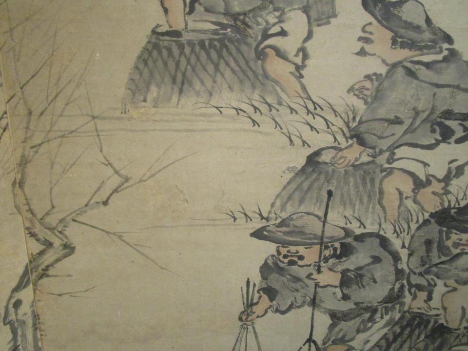 Attributed to Min Zhen (1730-1788)  Fishermen