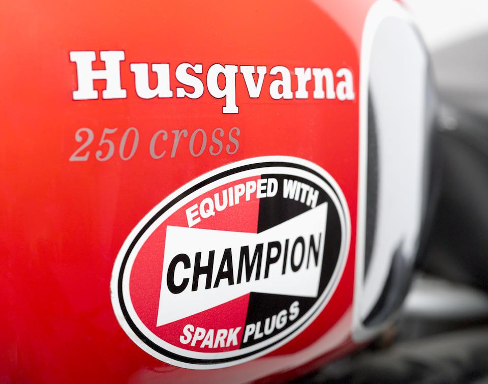 The ex-Steve McQueen, 1970 Husqvarna 250 Cross Frame no. MI 4473 Engine no. 254319