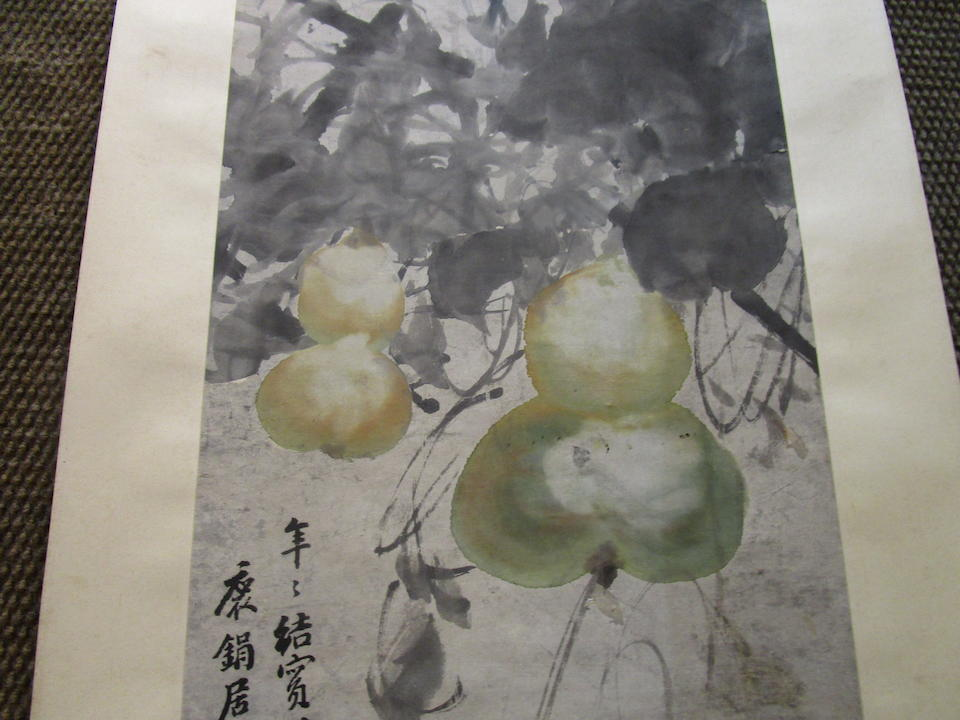 Various Artists (19th/20th century)  Two paintings of Vines and Vegetables