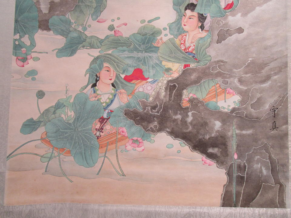Various Artists (20th century)  Two paintings of Beauties