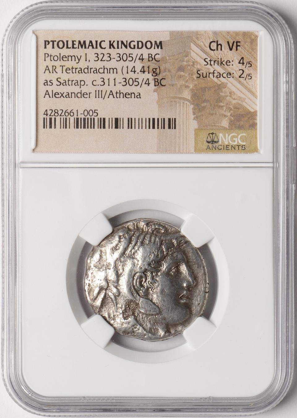 Ptolemaic Egypt, Ptolemy I, 323-305/4 BC AR Tetradrachm NGC Ch VF