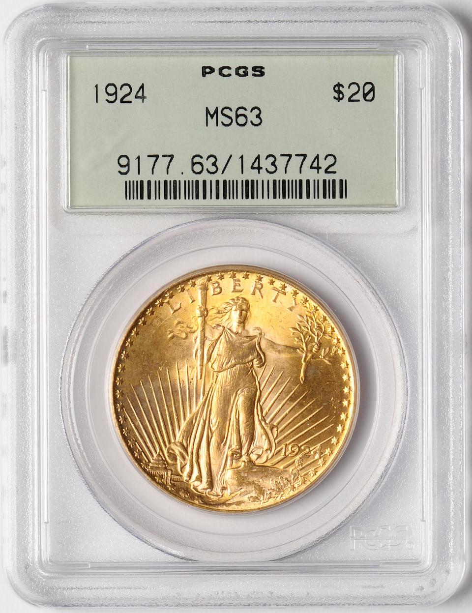 1924 MS63 PCGS