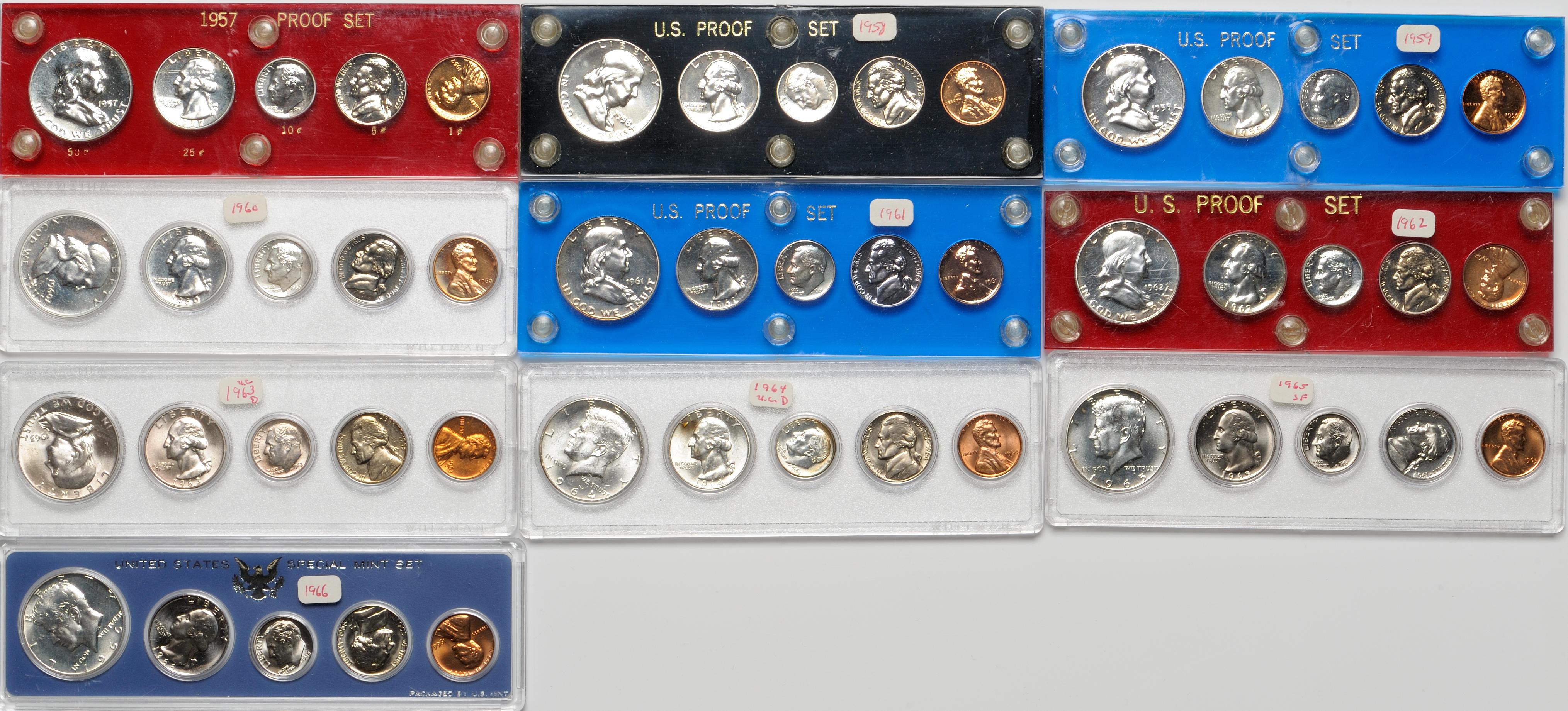 Capital Plastic Holder For Eisenhower Dollar Coin Set 1971-1976 S Black Display