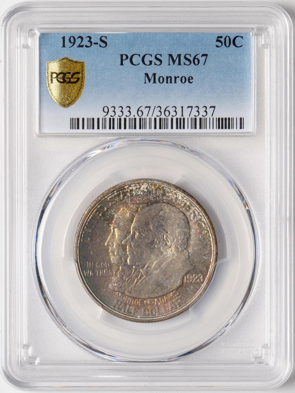 1923-S 50C Monroe MS67 PCGS