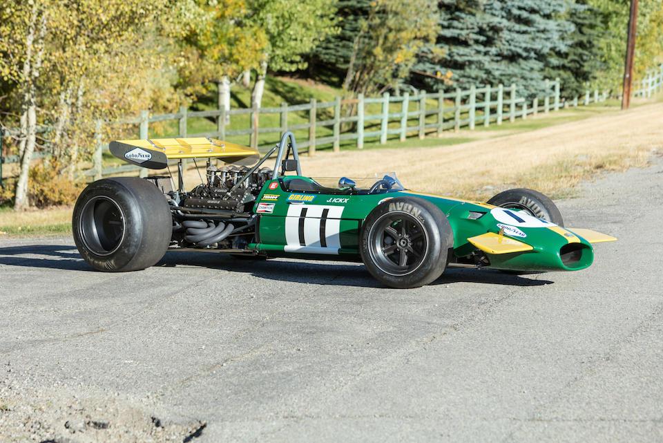 <b>1968-69 3-Liter Repco Brabham-Cosworth BT26/BT26A</b><br />Chassis no. BT26-3<br />Engine no. 1986