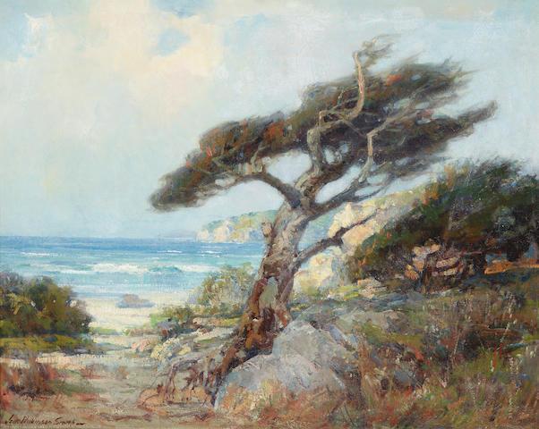 Jack Wilkinson Smith (1873-1949) Cypress Trees, Point Lobos 24 x 30in