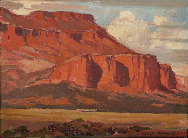 Edgar Payne (1883-1947) Red Bluff and Thunderheads 11 1/4 x 15 1/8in