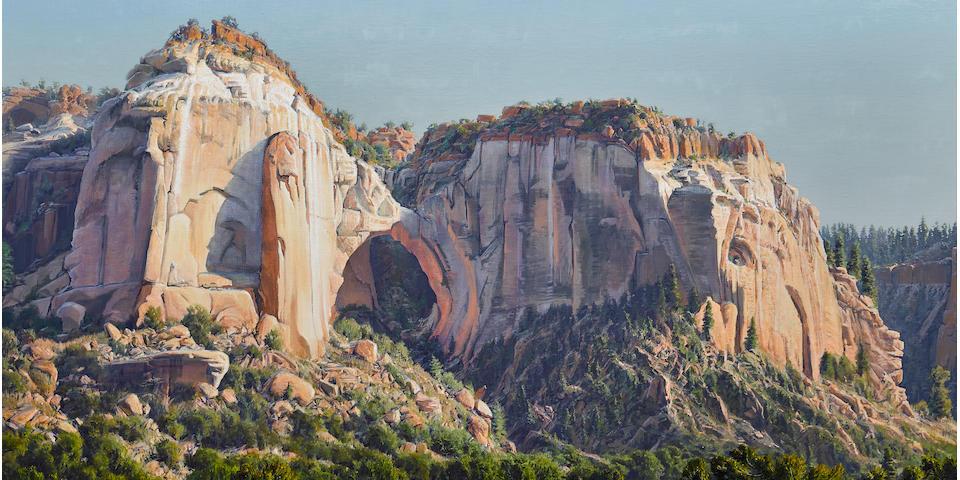 Wilson Hurley (1924-2008) La Ventana, New Mexico 60 x 96in