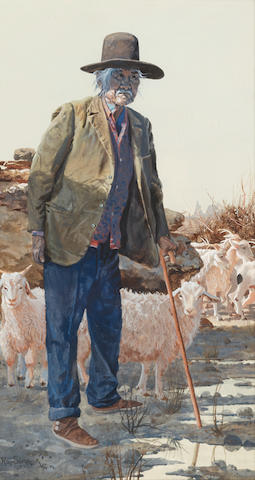 Ray Swanson (1937-2004) Returning Home 14 x 8in (Executed in 1987.)