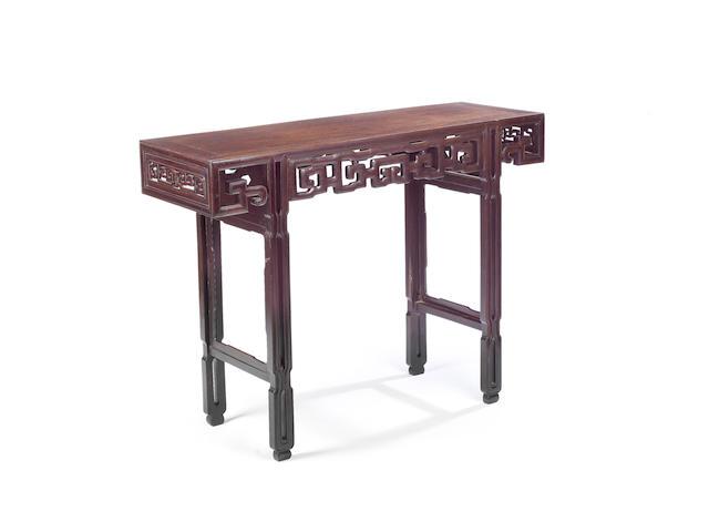 A Hongmu side table  Republic Period
