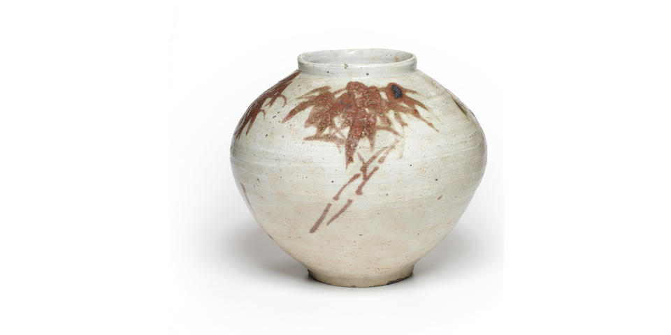 A copper-decorated porcelain jar Joseon dynasty (1392-1897), 18th century