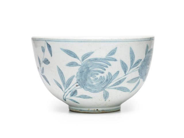 A blue and white deep porcelain bowl Joseon dynasty (1392-1897), 18th/19th century