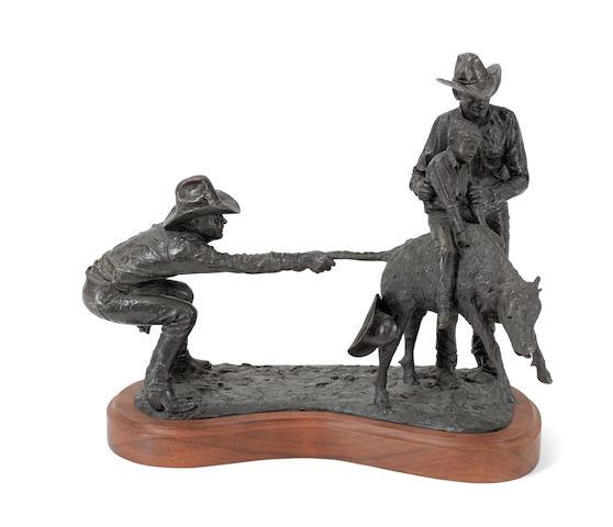 Bill Owen (1942-2013) Little Cowboy's Delight 16 1/4in high (Modeled in 1980.)