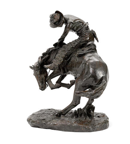After Frederic Remington (1860-1909) The Rattlesnake (Recast) height 23in