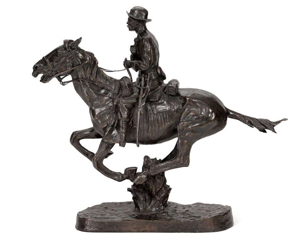 After Frederic Remington (1860-1909) The Trooper (Recast) 27in high (Cast in 1984.)