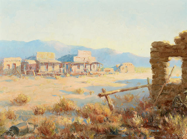 Olaf Carl Wieghorst (1899-1988) Ghost Town (Calico) 12 x 16in (Painted in 1948.)