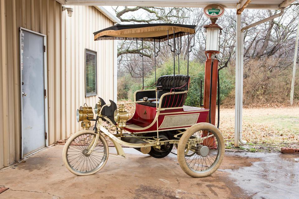 <b>c.1899 Knox Model A 5HP Single-Cylinder Three-Wheel Runabout</b><br />Engine no. 28