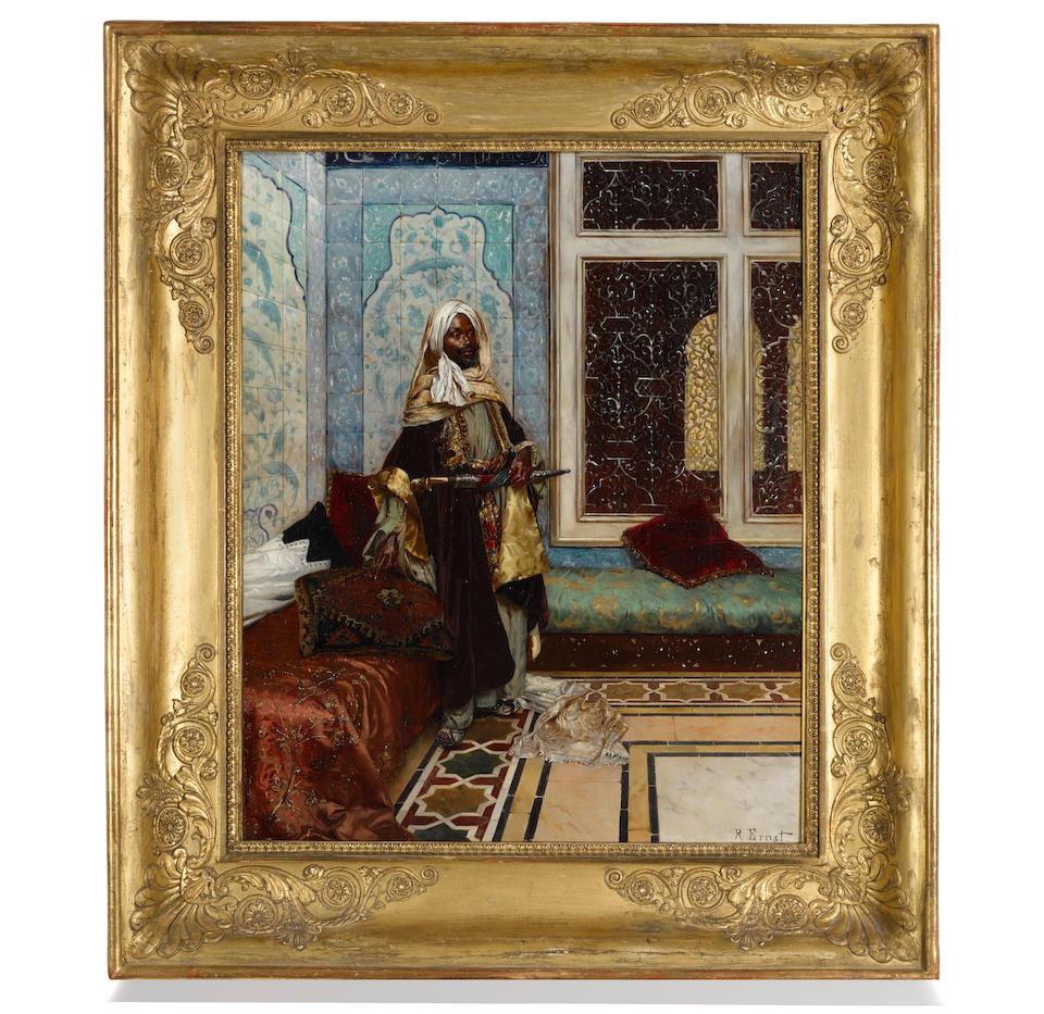 Rudolf Ernst (Austrian, 1854-1932) The palace guard (Awaiting an audience) 24 1/8 x 19 3/8in (61.3 x 49.3cm)