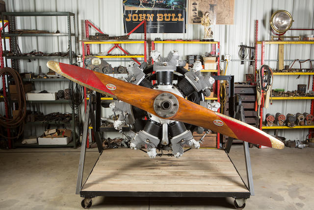 A CONTINENTAL R-670 SEVEN CYLINDER FOUR-CYCLE RADIAL AIRCRAFT ENGINE,