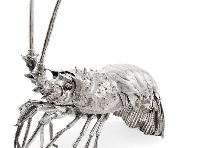 An Italian  Sterling silver figural lobster by Fratelli Lisi, Florence, 20th Century