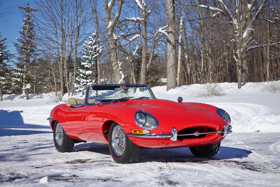 <b>1964 Jaguar E-Types Series 1 3.8 Roadster</b><br />Chassis no. 880875<br />Engine no. RA5042-9