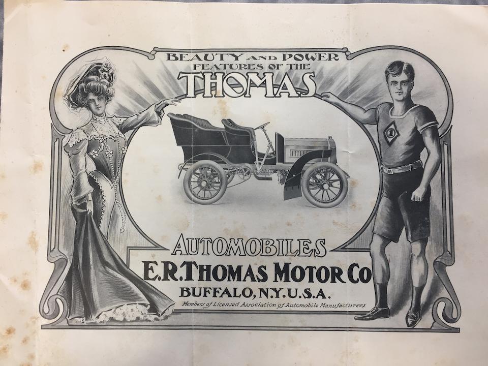 """<b>1904 Thomas MODEL 22 THREE CYLINDER 24HP """"FLYER"""" REAR ENTRANCE TONNEAU</b><br />Engine no. 1083"""