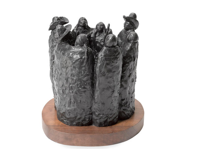 "An Allan Houser bronze, ""49"""