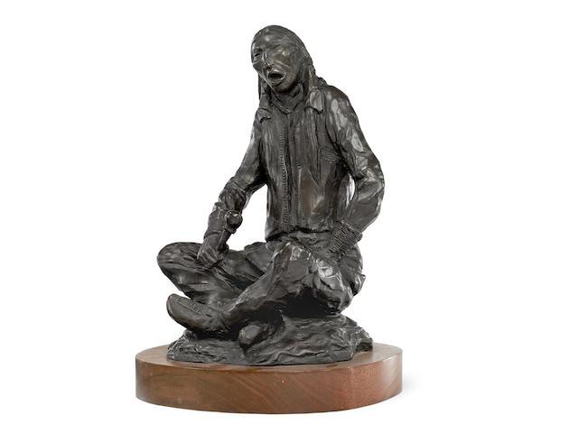 "An Allan Houser bronze, ""Peyote Songs,"" 1977"