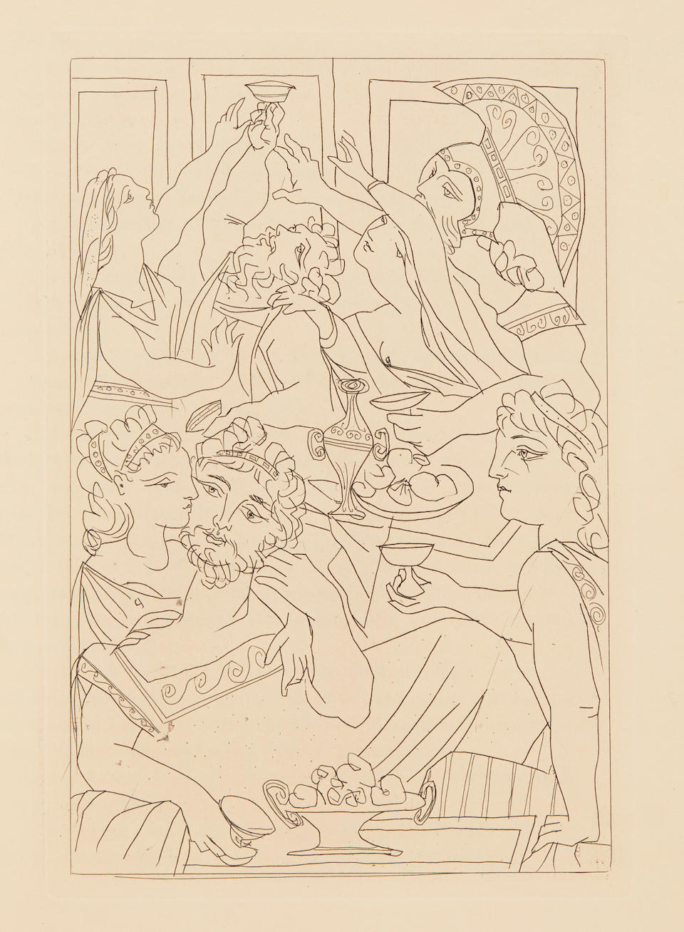 PICASSO, PABLO. 1881-1973. ARISTOPHANES. c.446–c.386 BC. Lysistrata.  New York: The Limited Editions Club, 1934.