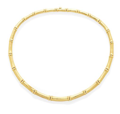 An 18k gold 'Bamboo' collar, Cartier, French