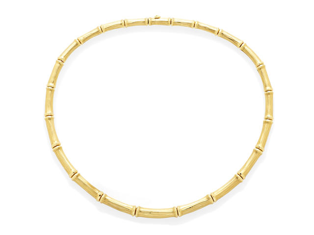 An 18k gold 'Bamboo' collar, Cartier, French