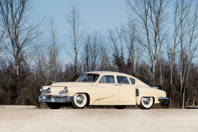 <b>1948 Tucker 48</b><br />Chassis no. 1028<br />Engine no. 335-35″/></figure>    <p>The second marquee lot is the 1934 Duesenberg  Model J Rollston Berline, #   2575/J-547, estimated at $500 – 600k. Little needs to be said of Duesenbergs Model J, arguably the finest American full classic and this one carries unique Rollston coachwork known as the Prince of Wales. Built to near JN spec this car has a relatively modern look, much lower and more sleek than the upright stance seen on the standard Model J, never restored and only marginally complete and accurate, this Model J is too far from totally original to be conserved as is but would be an excellent basis for a restoration and the estimate makes that a practical consideration. If it can be bought at the low estimate it would actually be very good buying.</p>    <figure class=