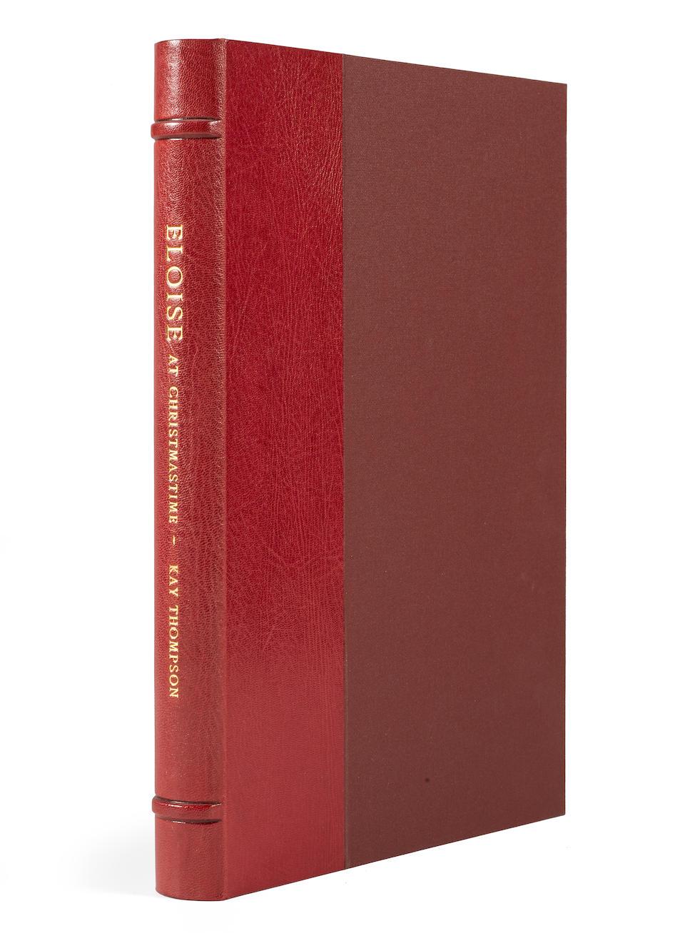THOMPSON, KAY. 1909-1998. KNIGHT, HILARY. B. 1926. Illustrator. Eloise at Christmastime. New York: Random House, 1958.