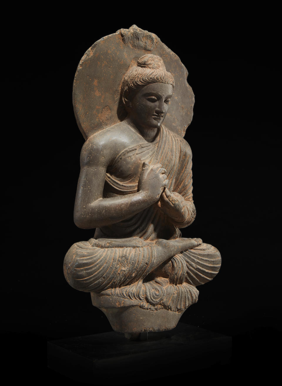 Bonhams A Schist Figure Of Preaching Buddha Ancient Region Of Gandhara 3rd 4th Century