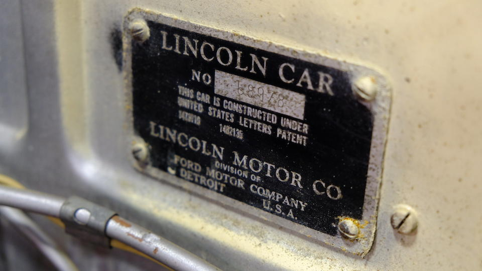 <b>1931 Lincoln Model K Touring Conversion</b><br />Chassis no. 68978<br />Engine no. 46445