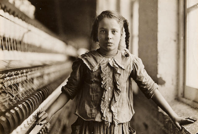 Lewis Wickes Hine (1874-1940); Ten Year Old Spinner, North Carolina Cotton Mill;