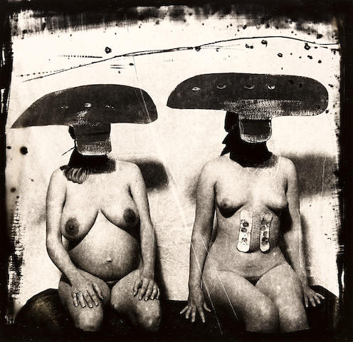 Joel-Peter Witkin (born 1939); I.D. Photograph from Purgatory: Two Women with Stomach Irritations, New Mexico;