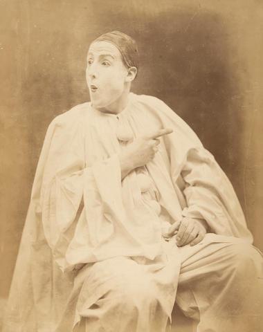 "Nadar (Gaspard-Félix Tournachon) (1820-1910); and Nadar ""Jeune"" (Adrien Tournachon) (1825-1903)  Charles Deburau, Mime, in Pierrot Costume;"