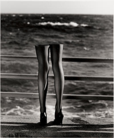 Helmut Newton (1920-2004); Legs looking out to sea, Monte Carlo;