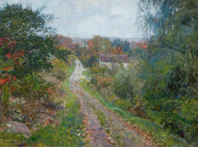 Charles Harold Davis (1856-1933) A Byroad in Autumn 20 x 27in