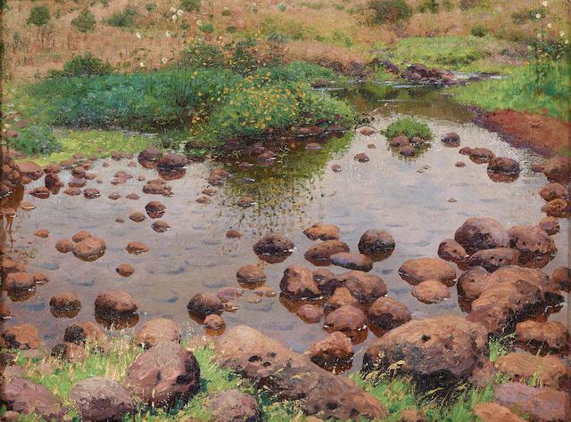 William Robinson Leigh (1866-1955) At the edge of Tinga-Tinga Mcubwa 12 x 16in