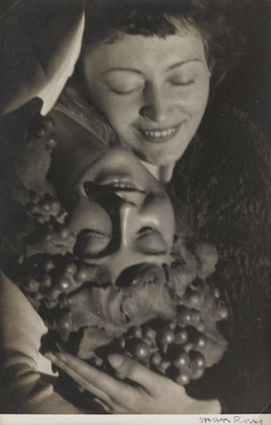 Man Ray (1890-1976); Nusch Eluard and Mask;