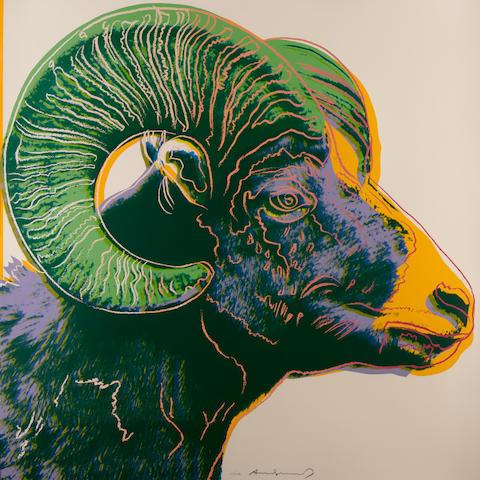 Andy Warhol (1928-1987); Bighorn Ram, from Endangered Species;