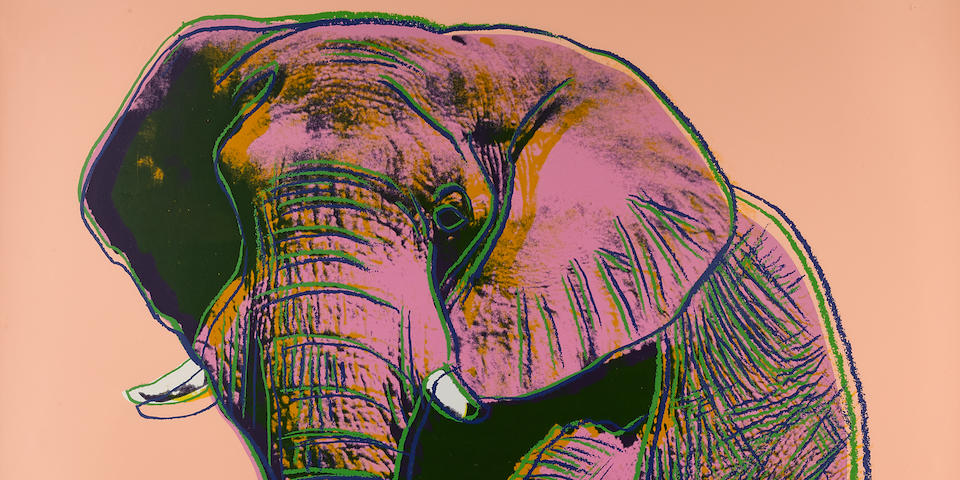 Andy Warhol (1928-1987); African Elephant, from Endangered Species;