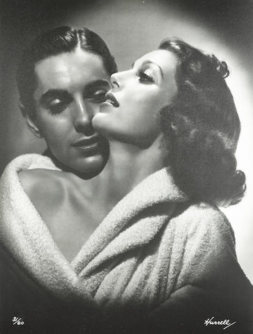 A George Hurrell signed and numbered limited edition oversized photograph of Loretta Young and Tyrone Power