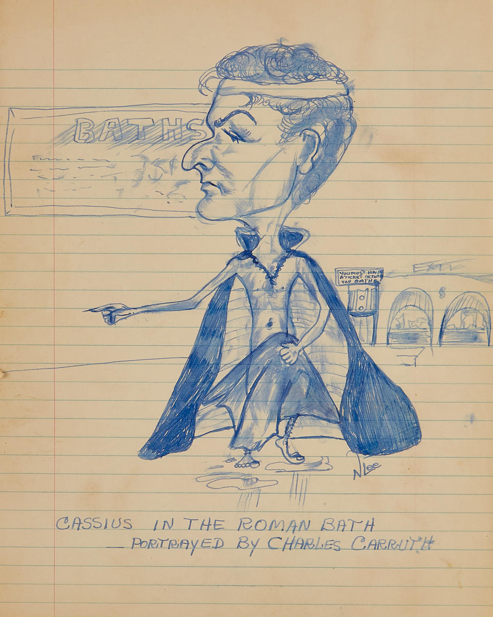 LEE, HARPER. 1926-2016. Archive of drawings and letters from Harper Lee to Charles Weldon Carruth, with an inscribed first edition of To Kill a Mockingbird, comprising in full:
